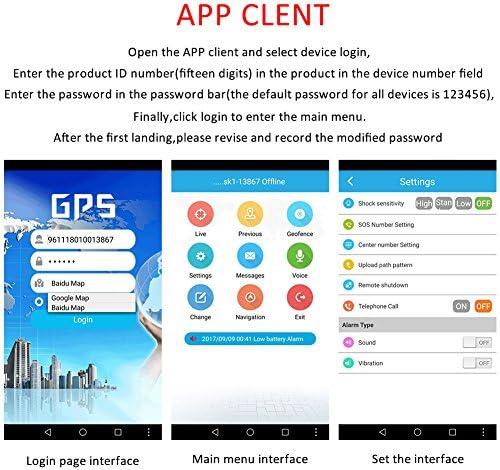 samber localizador GPS niño collar – Localizador GPS niño anti-perdu Mujer SOS alarma GPS Tracker niños Collar de seguridad WiFi Vigilancia de posición GPS GPRS LSB, color Rose: Amazon.es: Deportes y aire