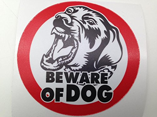 Heartgard Dog Medication (Beware of Dog Sign Sticker size 4 inch for Car Window Bumper Laptop Security Warning Alert Sticker Decals)