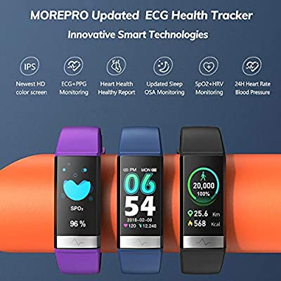 Morepro Fitness Tracker Hrv Hd Color Screen Activity Tracker With Heart Rate Blood Pressure Waterproof Health Watch Sleep Monitor Pedometer Step Counter For Men Women Android Ios Amazon Sg Sports Fitness Outdoors