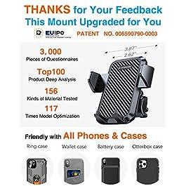 VANMASS Universal Car Phone Mount,【Patent & Safety Certs】Upgraded Handsfree Stand, Dash Windshield Air Vent Phone Holder…