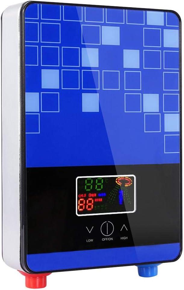 Protezione da sovratemperatura Ampio Schermo a LED per Bagno di casa scaldabagno Senza Serbatoio Sicuro e di Lunga Durata Scaldacqua istantaneo con termostato ad Alta precisione