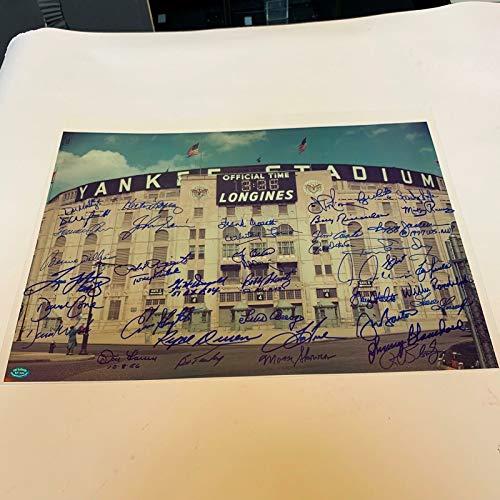 Beautiful Yankee Stadium Signed Large Photo With 40+ Yankees Legends Sigs JSA