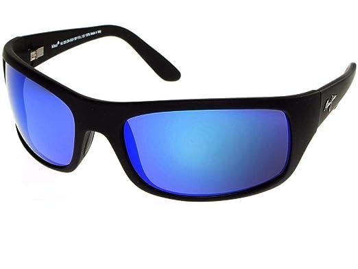 Maui Jim - Gafas de sol polarizadas PEAHI negro brillante y ...