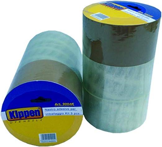 KIPPEN 9004K 9004K Lot de 3 rouleaux de ruban demballage ultra r/ésistant 48 mm x 40 m