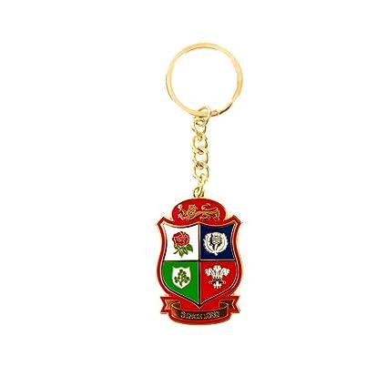 Británico & Irlandés Leones Rugby Logo Escudo Llavero [rojo ...