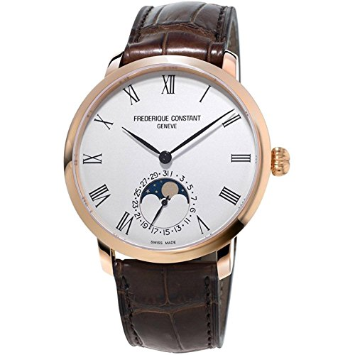 Frederique Constant Silver Dial Leather Strap Men's Watch FC-705WR4S4