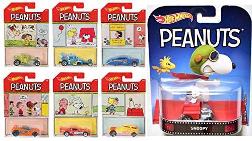 Peanuts Hot Wheels Comic Strip Edition Exclusive Set + Snoopy Premium Flying Ace Retro character Edition Dog House Car Officially Licensed Collectibles Charlie Brown & (Ford Classic Blanket)
