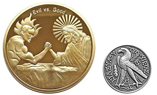 vs Evil Christian Faith Challenge Coins - Religious Gift ()
