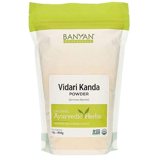 Amazon.com: Banyan Botanicals Vidari Kanda Powder - Certified Organic, Spice Jar - Ipomoea digitata - A sweet, nutritive tonic that is a rejuvenative for ...