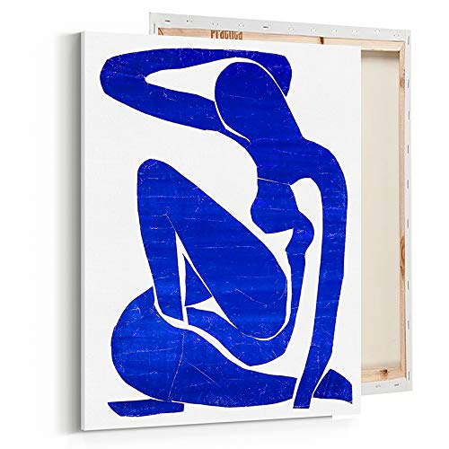 Fashion Glam Wall Art Poster Print - Blue Nude Henri Matisse Reproduction - Printed on Fine Art Canvas- 16