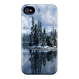 Hot Design Premium RQzbYue1789FCMUv Tpu Case Cover Iphone 4/4s Protection Case(magical Winter Wonderl)