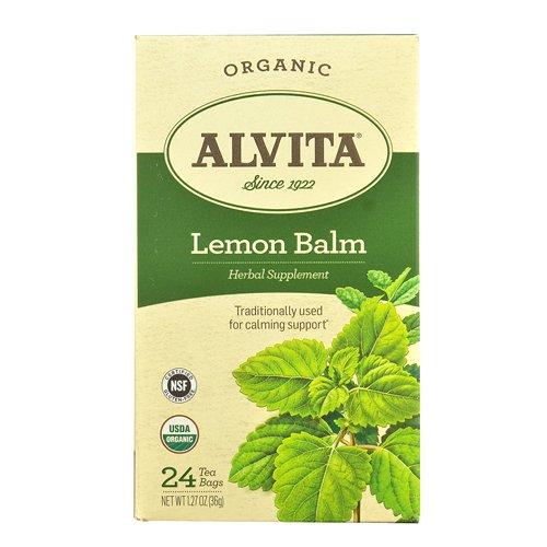Melissa Herbal Tea - Alvita Tea Organic Herbal Balm, Lemon, 24 Count