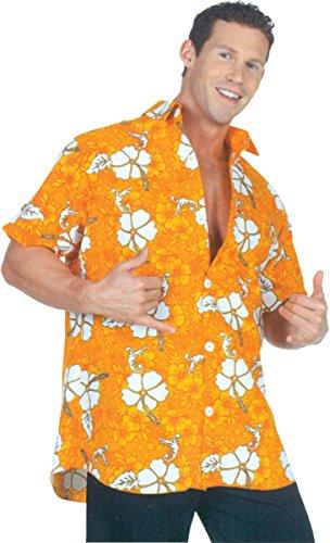 Underwraps Men's Hawaiian Shirt-Orange, One Size ()