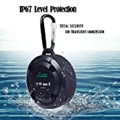 GooBang Doo Waterproof Bluetooth Outdoor & Shower 4.0/NFC Speaker Portable Size Lightweight Dustproof Shockproof...