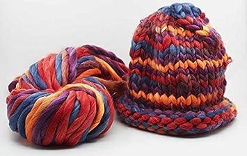 9 oz Multicolor en el Lou trenzado Bulky Para Tejer lana ...