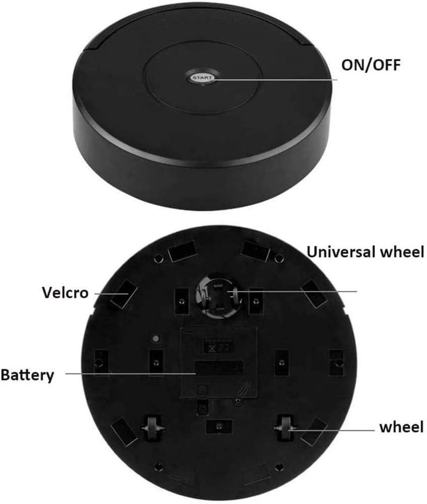 WZLJW Aspirateur sans fil Smart Robot Moquette Automatique Balayeur de Sol Machine de Nettoyage de Sol Noir Gsm (Couleur : Noir) Noir