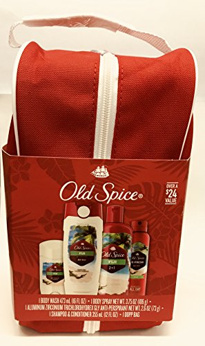 Old Spice Fiji Dopp Gift Set with Bag