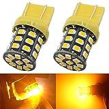 AMAZENAR 2-Pack 7443 7440 992 T20 Car Turn Signal Lights - 12V-24V Amber/Yellow Extremely Bright 600 Lumens 2835 33 SMD LED Light Bulb - Replacement for Tail Blinker LED Bulb