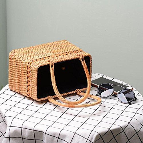 Bolso playa la bohemio de para mano verano de de Crossbody Bolso a bolso Paja bolso tejido retro Bolso mujeres playa Yves25Tate de t4SwzPqc