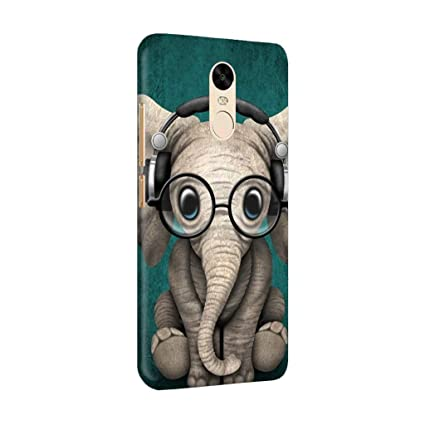 more photos 0f442 bb87c RedMi Note 4 Back Cover - Cute Elephant - For Animal Lovers - Hard Shell  Back Case