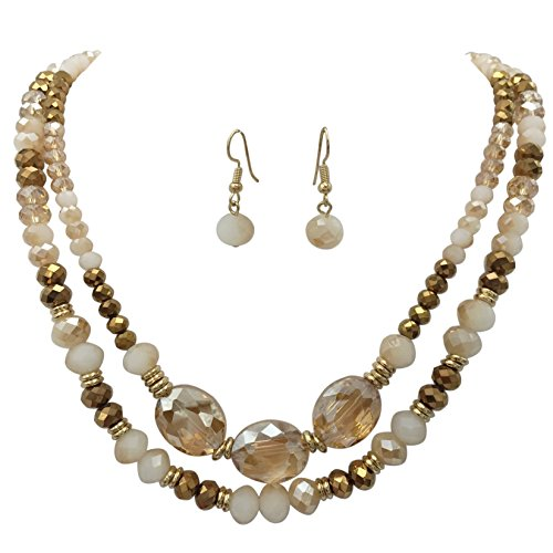 Beaded Glass Jewelry Set - 9