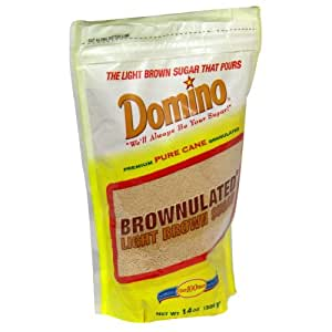 Domino Sugar Light Brown Brownulated, 14-Ounce (Pack of 12)