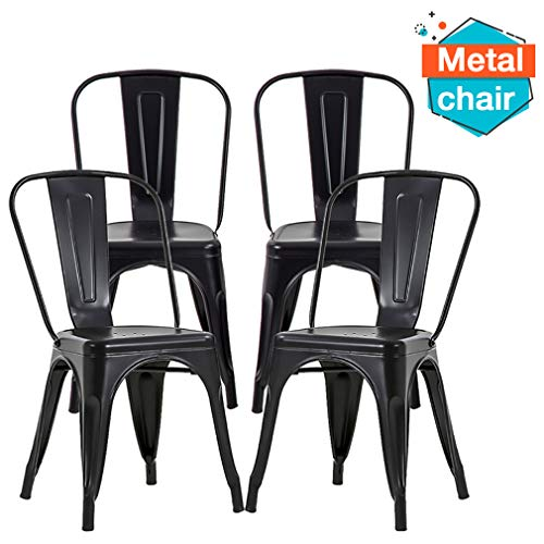 FDW Chairs Metal Stackable Restaurant Dining Chair 18