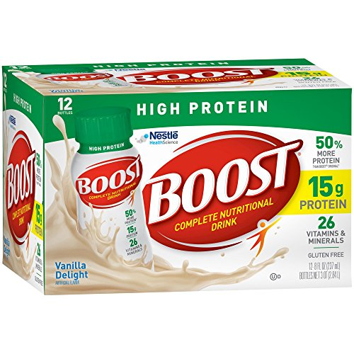 Boost High Protein Complete Nutritional Drink, Vanilla Delight, 8 fl oz Bottle (Pack of 4) by Boost Nutritional Drinks