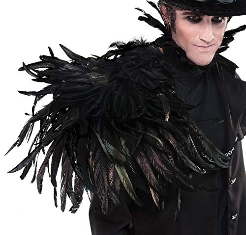 AMSCAN Gothic Shoulder Wing Halloween Costume Accessories for Adults, One Size