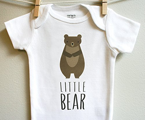 d9e7f6942 Amazon.com  Little Bear Boy Girl Baby Bodysuit Romper One Piece ...