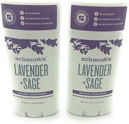 Schmidt's Deodorant, Lavender + Sage, 3.25 oz (92 g) - 2pc