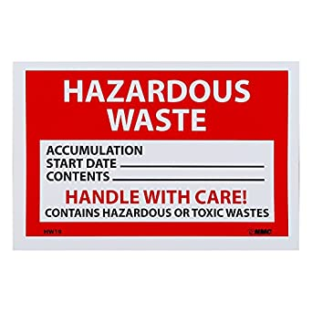 dating hazardous waste containers