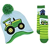 Yankee Toy Box John Deere Toddler Boys Beanie Hat and Socks Set (One Size, Tractor Blue)