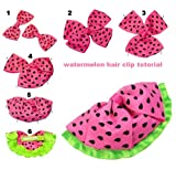 "Hip Girl Boutique 35yd 3/8""-1.5"" Watermelon/Summer Grosgrain Ribbon Combo--Color May Vary"