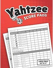 """Yahtzee Score Pads: Large Print Size 8.5"""" x 11"""""""