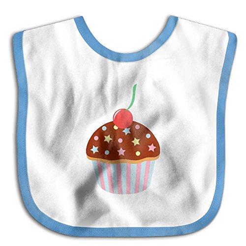 Unisex Baby Bandana Drool Bibs Birthday Cupcake Cotton Neck Saliva Adjustable Towel Toddler For Girls Boys