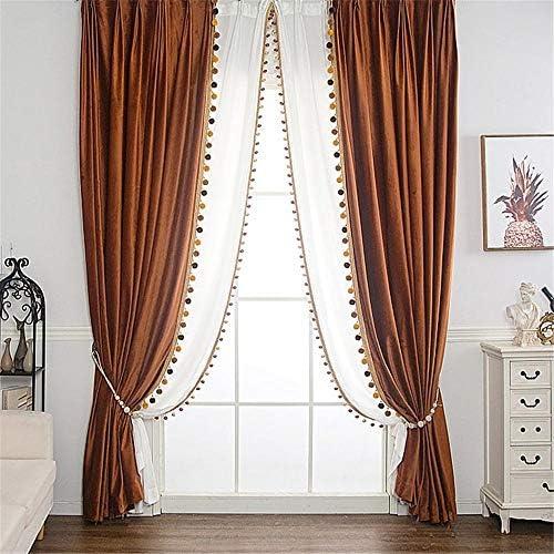 Gxi Velvet Solid Blackout Curtains
