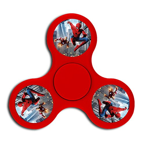 Fashion Peter Parker Super Hero Triangle High Speed Peg Top Finger Fidget Spinners Toy Whipping Top For Adult Children Relieve Stress