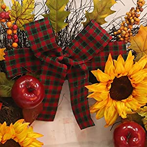 """Decorative Leaves & Berries 17"""" Fall Sunflower Maple Leaf Harvest Wreath, Autumn Colors Enhance Home Decor, for Front Door or Indoor Wall Décor to Celebrate The Thanksgiving & Fall Season 5"""