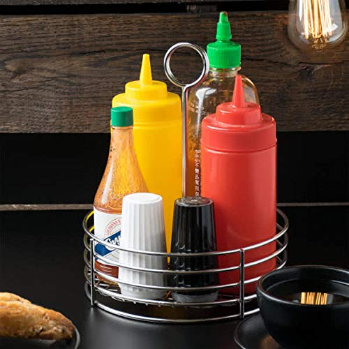 G.E.T. Enterprises Stainless Steel Round Stainless Steel Condiment Caddy Stainless Steel Table Caddies Collection 4-81850 (Pack of 1) by GET (Image #4)