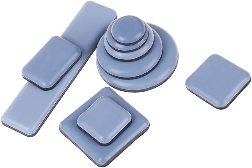 Diyiming 4Pack Carpet Furniture Sliders Self-Adhesive Furniture Gliders Furniture Mover Protector Carpet Flooring Moving Slider Pad Table Base Protector Coaster