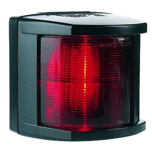 HELLA 002984335 '2984 Series' 12V DC 2 NM Port Navigation Light with Colored Outer Lens and Black Housing