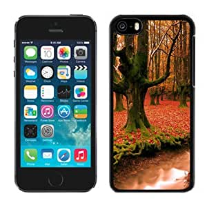 New Personalized Custom Designed For iPhone 5C Phone Case For Autumn Forest Trees Phone Case Cover wangjiang maoyi by lolosakes