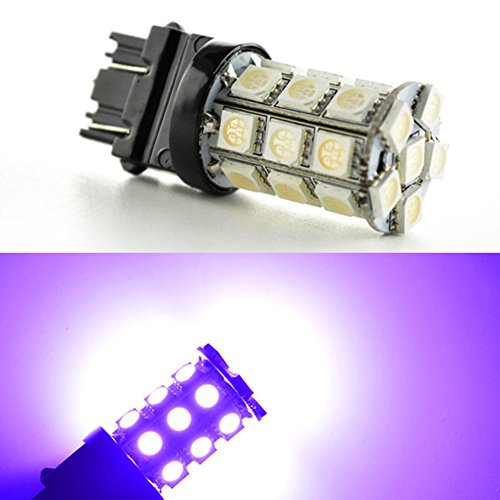 Ruiandsion 2pcs 3056 3156 3057 3157 27-SMD 5050 540LM Wedge LED Bulbs for Backup Reverse Lights , 12V Brake Light, Parking Light,3157 LED Bulb Purple