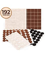 192 Pieces Supreme Furniture Felt Pads with 3M Adhesive, Three Colors, Three Sizes, Two Shapes! Protects a Variety of Flooring and countertops. Perfect for couches, Chairs, Tables, cabinets and More.