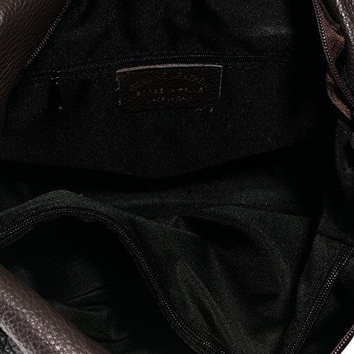 Bolso Color piel Marron Bolso SAVAGE auténtica de de ITALIANA bag FIRENZE mujer shopping PELLE Bolso IN 36x23x17 mujer ITALY cuero hombro piel genuino cm VERA acabado CUERO MADE ARTEGIANI fwF5YxYqTO
