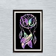 Leezeshaw 5D DIY pintura de diamante por número Kits de pintura de diamantes de imitación sin fama para decora