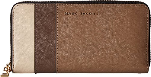 Marc Jacobs Women's Saffiano Color Blocked Standard Continental Wallet French Grey Multi Wallets by Marc Jacobs