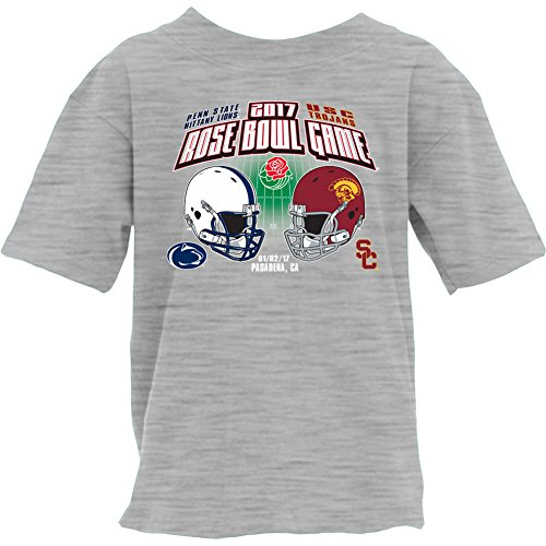 State Bowl Rose Penn (Elite Fan Shop Penn State Vs USC Rose Bowl Youth TShirt Gray - M)