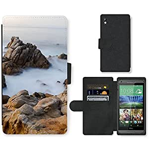 PU Cuir Flip Etui Portefeuille Coque Case Cover véritable Leather Housse Couvrir Couverture Fermeture Magnetique Silicone Support Carte Slots Protection Shell // F00001267 Naturaleza Through The Lens // HTC DESIRE 816